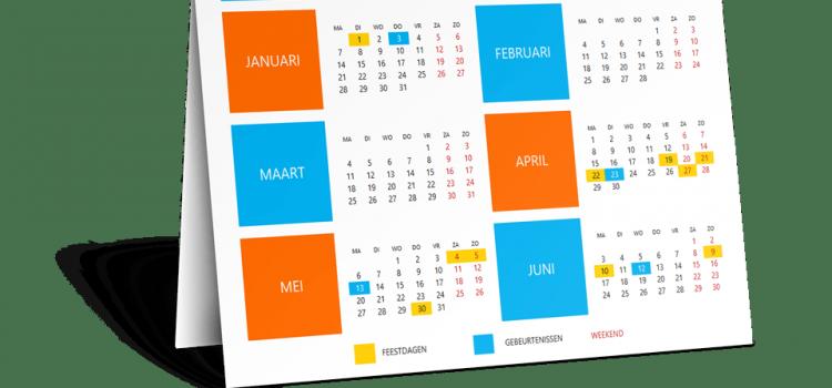 Kalender 2020 staat online!